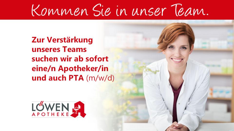 Apotheker/in un PTA gesucht (m/w/d)