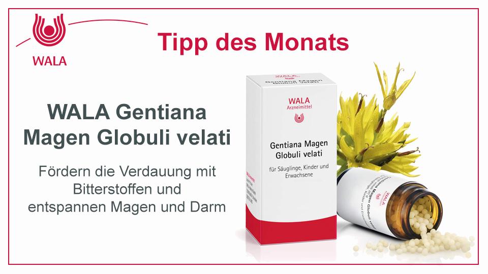 Homöopathie Tipp: WALA Gentiana Magen Globuli velati