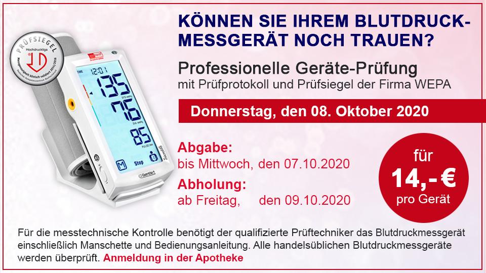 Blutdruckmessgeräte- Überprüfung