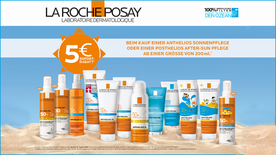 5€ Rabatt auf La Roche-Posay Sonnen-Produkte