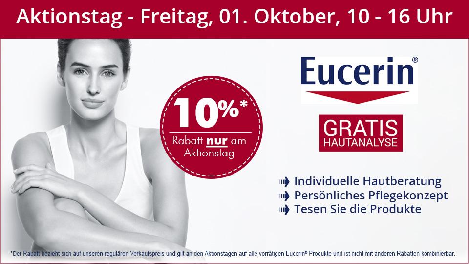 Eucerin Beratungstag - gratis Hautanalyse und 10% Rabatt auf Eucerin