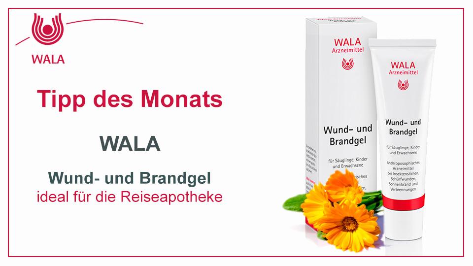 Homöopathie Tipp:  WALA Wund- und Brandgel