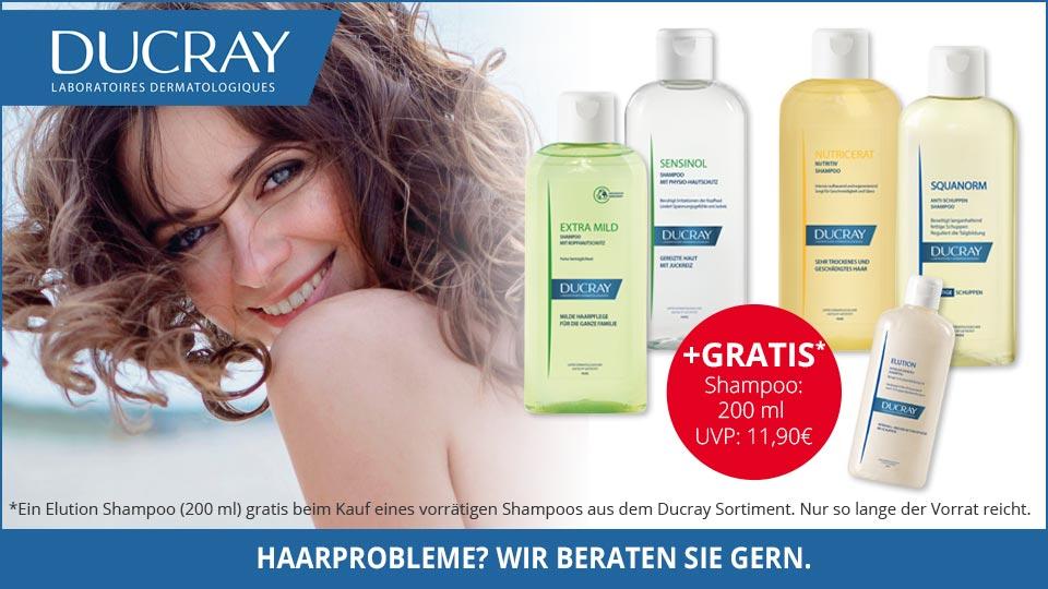 ZUm Kauf eines Ducray Shampoos ein gratis Shampoo dazu