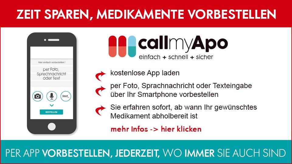callmyApo - einfach Medikamente per Smartphone App vorbestellen